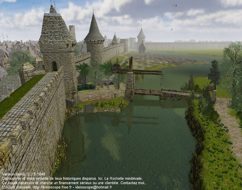 Above the 'Gourbeille' river, look toward east on the southern citywall.