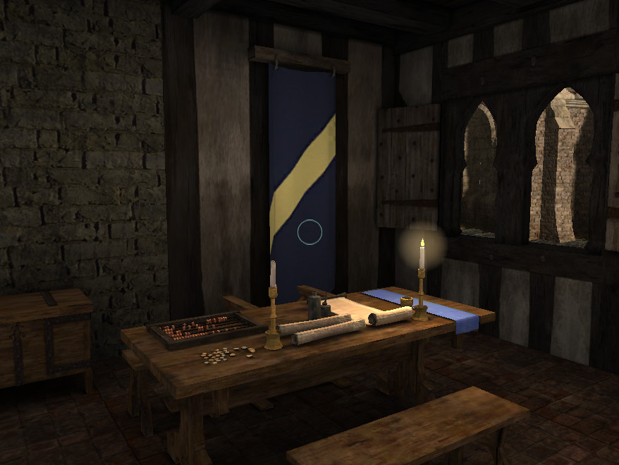 The office in wich the merchant make his account books.