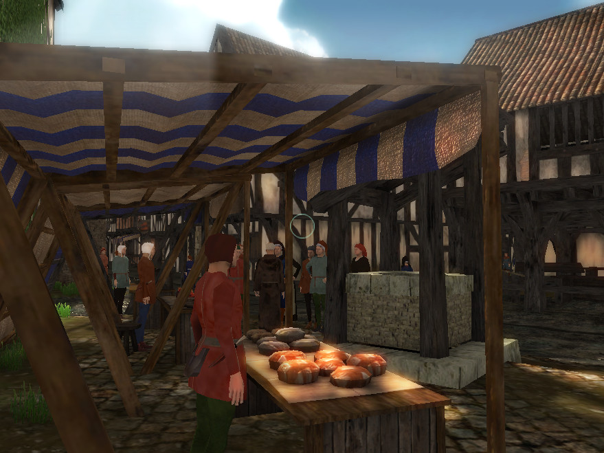 Knightsbury... Stalls at the well square..