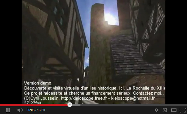 Video teaser of La Rochelle at XIII° century application.